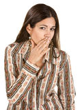 Lady Whispering Royalty Free Stock Images