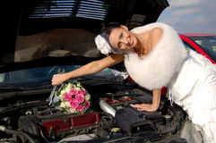 Lady in white Royalty Free Stock Image