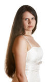 Lady in white dress Royalty Free Stock Photo