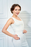 Lady in white dress Stock Photo