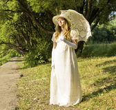 Lady in white Royalty Free Stock Photography