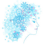 Lady winter Stock Image