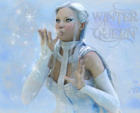 Lady winter Royalty Free Stock Photos