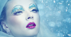 Lady Winter. Royalty Free Stock Images