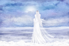 Lady Winter Royalty Free Stock Photography