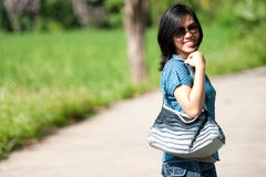 Free Lady With Bag Stock Images - 16617484