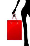 Lady With Shopping Bag Royalty Free Stock Image