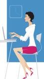 Lady at work royalty free illustration