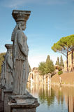 Lady worker statue in canopo at Villa Adriana Royalty Free Stock Photos