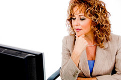 Lady working in her office Royalty Free Stock Photo