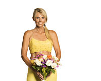 Lady In yellow Royalty Free Stock Images