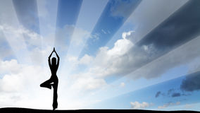Lady yoga figure Stock Image