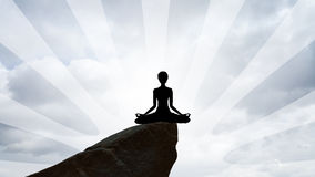 Lady yoga figure. Picture of a lady yoga figure Stock Photography