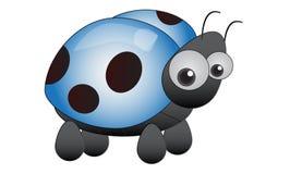 Ladybird blu Immagine Stock Libera da Diritti