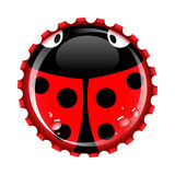 Ladybird bottle cap Stock Photo