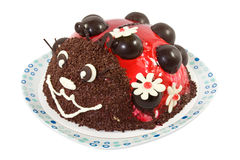 Ladybird cake Royalty Free Stock Image
