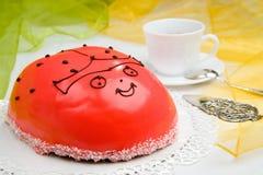 Ladybird cake Stock Photography