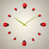 Ladybird clock Royalty Free Stock Image