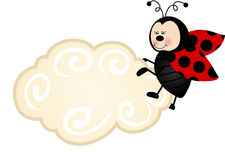 Ladybird Cloud Label Royalty Free Stock Image