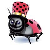 Ladybird cylinder smile Royalty Free Stock Image