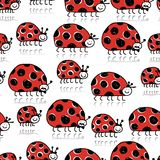 Ladybird family, seamless pattern for your design Royalty Free Stock Image