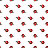 Ladybird geometric seamless pattern. Fashion graphic. Background design.Modern stylish abstract texture. Template for prints, text stock illustration