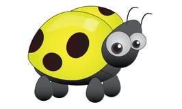 Ladybird giallo Fotografia Stock