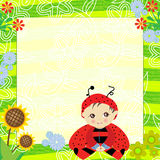 Ladybird invitation card Stock Image