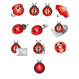 Ladybird, pictograph Stock Photo