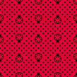 Ladybird with polka dots Royalty Free Stock Image