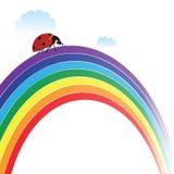 Ladybird on rainbow Stock Images
