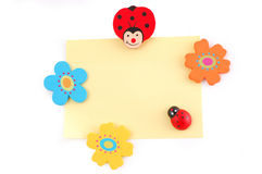 Ladybird on a sheet Stock Image