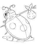 Ladybird traveller. Illustration of the ladybird traveller stock illustration