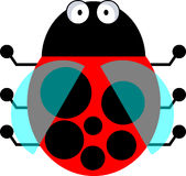 Ladybird - vector clipart Royalty Free Stock Image