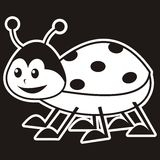 Ladybird, vector icon, label Royalty Free Stock Image