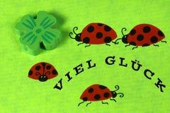 ladybirds приветствию карточки Стоковые Фотографии RF