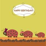 ladybirds семьи бесплатная иллюстрация