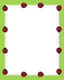 Ladybirds borders frame royalty free stock images