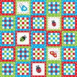 Ladybirds and butterflies background Royalty Free Stock Photos