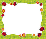 Ladybirds frame royalty free illustration