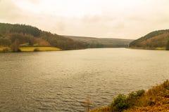 Ladybower水库在德贝郡 免版税库存照片