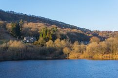 Ladybower水库, Derwent谷,德贝郡,英国 免版税库存图片