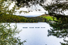 Ladybower. Looking across Ladybower Dam Derbyshire England Royalty Free Stock Image