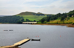 Ladybower Reservoir in Derbyshire Stock Photos