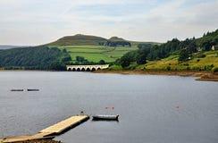 Ladybower Reservoir in Derbyshire stock photos