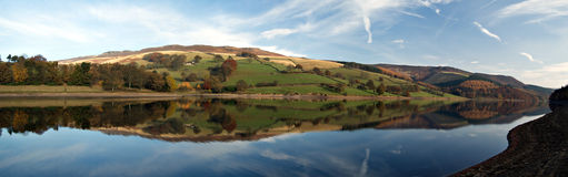 Ladybower reservoir. England Stock Photo