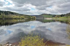 Ladybower Reservoir, Hope Valley. In the Peak District Royalty Free Stock Photos