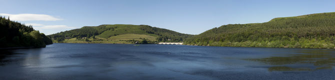 Ladybower-Reservoir-Panorama stockfotografie