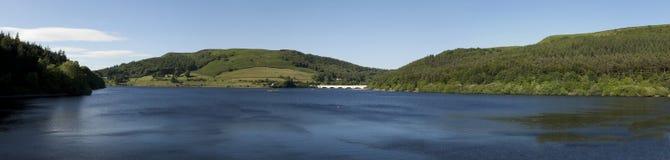 Ladybower Reservoir Panorama Stock Photography