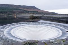 Ladybower Reservoir Spillway Overflow Royalty Free Stock Photo